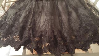Falda encaje talla 38
