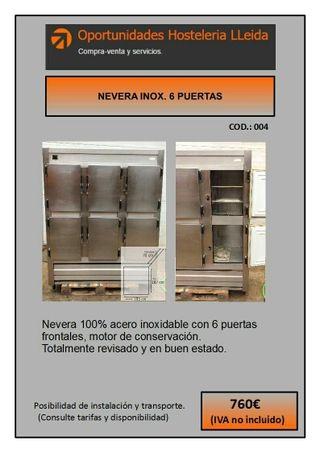 NEVERA INOX. 6 PUERTAS