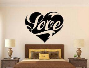 Vinilo decorativo corazon love amor