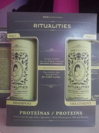 Champú y tratamiento de proteinas