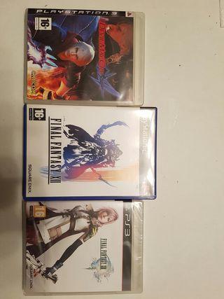 Juegos PS2 y PS3 Final Fantasy y Devil May Cry