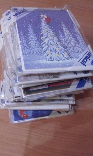 Tarjetas navideñas 100 postales mas o menos
