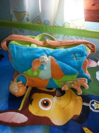 Bolso maternal tuc tuc + chupetero coleccion circo