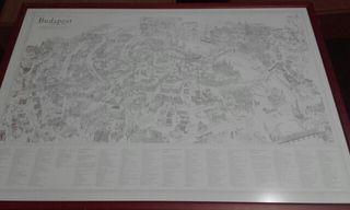 Mapa de la ciudadde budapest