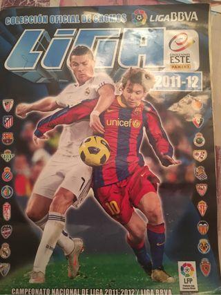 Álbum cromos fútbol liga 11-12