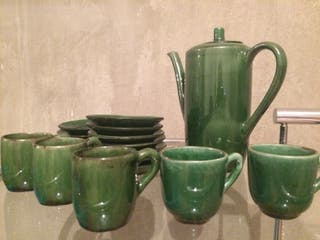Juego cafè ceràmica antigua