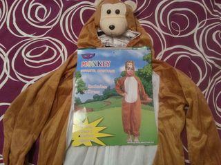 Disfraz de Mono. Talla : 7-10 años
