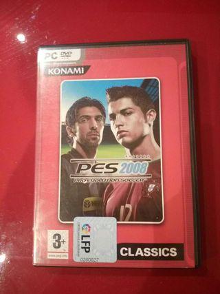 juego Pes 2008 pc contiene regalo!!
