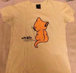 Camiseta chica gato Zara