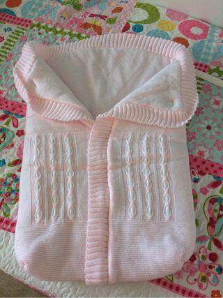 Saco bebé lana.