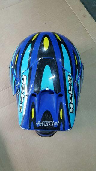 Casco motocross Talla M 58 + guantes Hebo