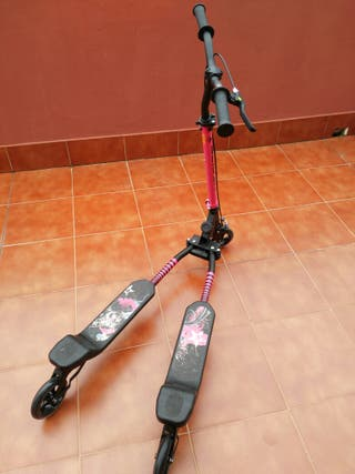 Patinete 3 ruedas slider black/pink decathlon