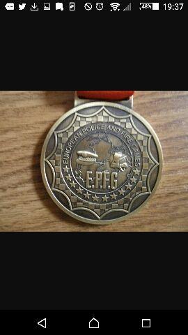 Medalla de oro juegos europeos