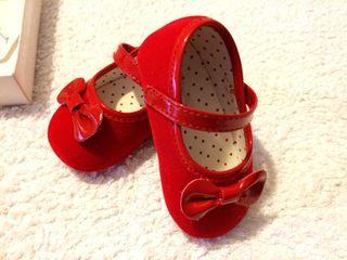 Zapato bebe rojo talla18