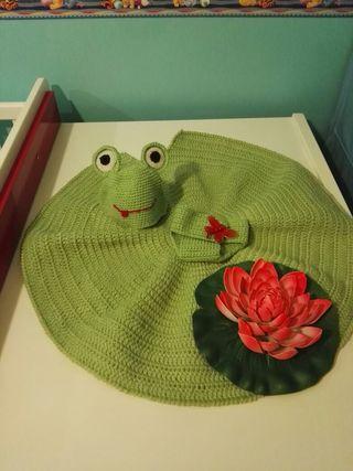 Cjto atrezzo rana crochet