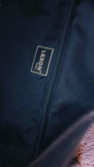 Bolso maleta azul mediano grande