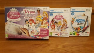 Wii uDRAW Game tablet + 2 juegos