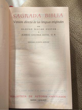 Sagrada Biblia - Nacar-Colunga