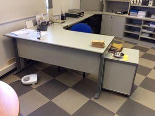 Mesas de Oficina con ala Incorporada de 160 De Largo