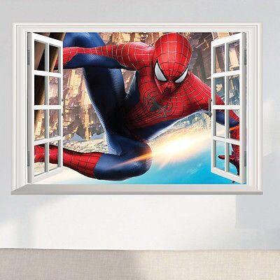 Vinilo Adhesivo Deco. Spiderman Ventana 3 D.