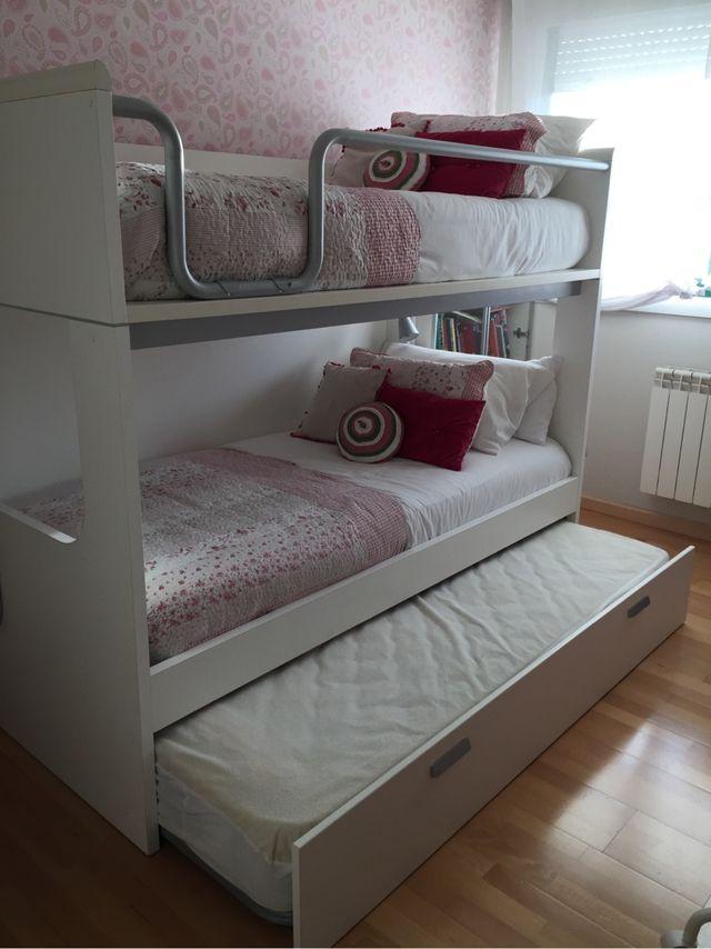 Litera tres camas de segunda mano por 640 en feans en wallapop - Litera para tres ...