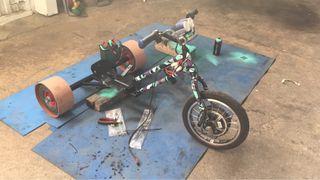 Rotulación camuflaje bici o trike