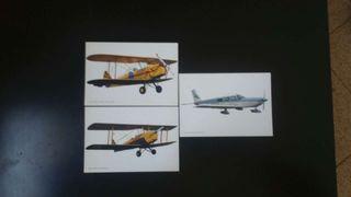 Postales colección aviones