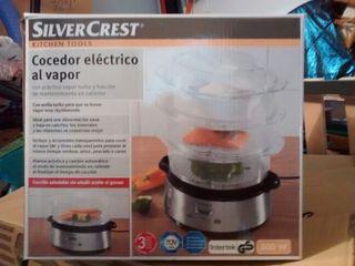 Cocedor de vapor electrico, silvercrest