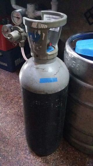 Botella de gas industrial