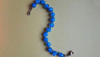 Pulsera azul de cristal de Murano