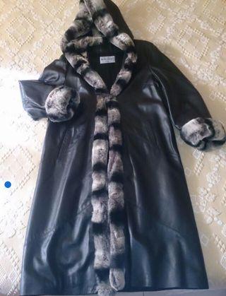 Abrigo de piel y chinchilla