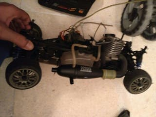 Coche radio control gasolina con emisora