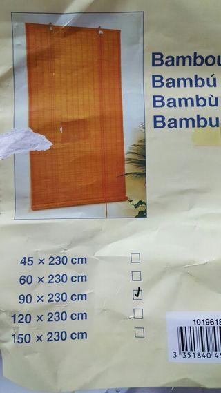 Cortina de bambú 90x230cm sin estrenar