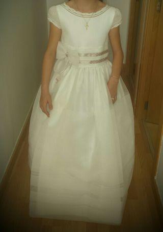 vestido comunion + zapatos + cancan