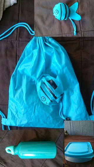 Pack: mochila, sandwichera y botella aluminio