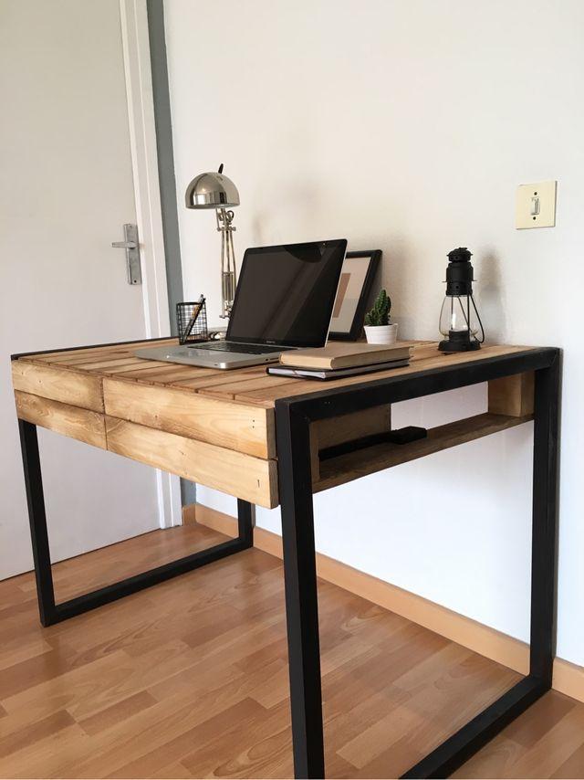 mesa escritorio industrial chu de segunda mano por 220