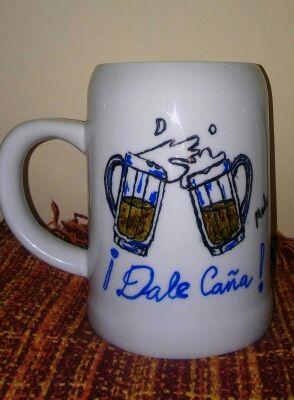 Jarra de cerveza de 1/2 litros