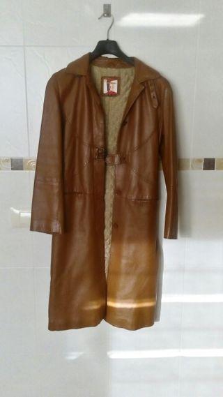 Abrigo piel camel