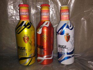 3 botella ambar vacias ed real Zaragoza