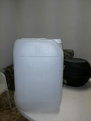 Garrafas plástico 25 litros