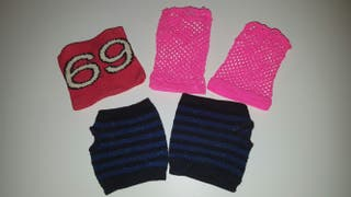 Pack guantes sin dedos + muñequera