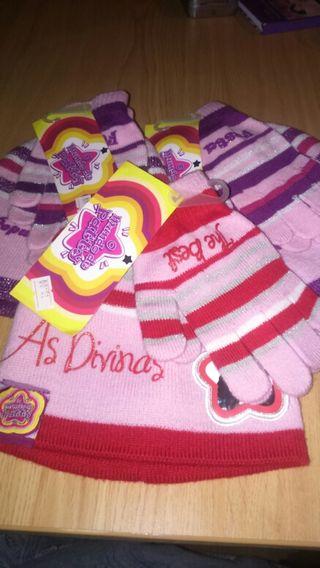 Conjuntos de gorrito y guantes