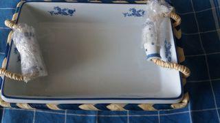 Fuente rustica rectangular servir