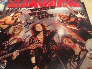 Scorpions doble LP firmado por toda la banda