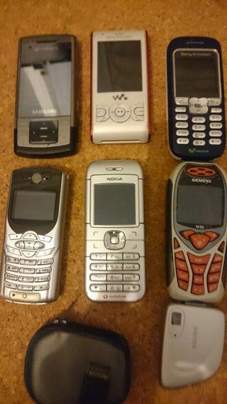 Lote móviles antiguos