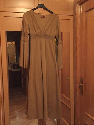 Vestido largo camel