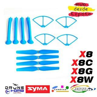SET AZUL DRON SYMA X8 X8C X8G X8W