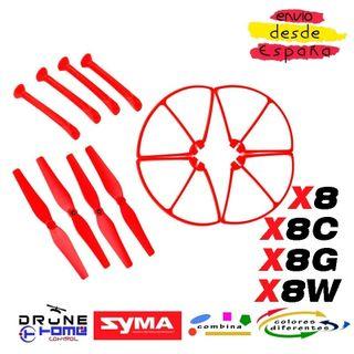 SET ROJO DRON SYMA X8 X8C X8G X8W