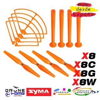SET NARANJA DRON SYMA X8 X8C X8G X8W