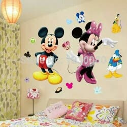 VINILO DE MINNIE Y MICKEY MOUSE 50 X 50